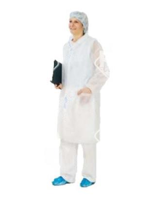 Poligard 50 g patentos, galléros, fehér laborköpeny PLP, antisztatikus S