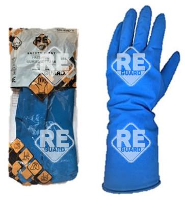 Safety First Háztartási gumikesztyű, kék, flokkolt 60g méret: 7
