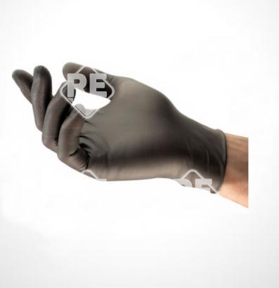 Shield SmartLine Fekete Nitril 240 vizsgálókesztyű S