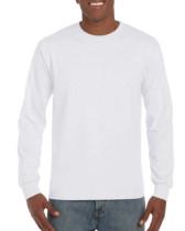 Póló Gildan Hammer 400 hosszú ujjú, környakas, pamut, fehér, 2XL