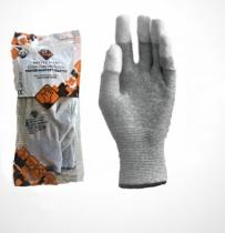 Safety First Karbonszálas kesztyű, PU ujjbegy mártott, ESD
