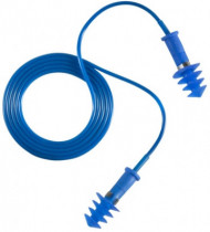 EARLINE - lamellás kék zsinóros TPR füldugó SNR 30db 150 db/doboz