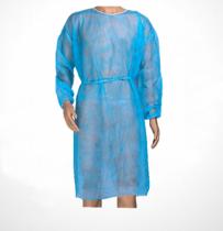Látogató köpeny kék kötős, gumis mandzsettával, 25 g XL