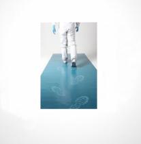 szennyfogó szőnyeg (antibakteriális), kék 45x115, 30 lapos, 10 csom./karton