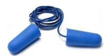 Safety First PU-hab füldugó zsinóros detektálható kék