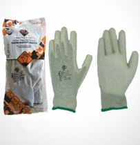 Safety First Karbonszálas kesztyű, PU tenyérmártott, ESD