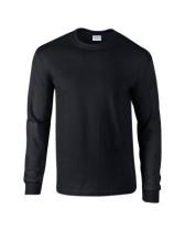 Póló Gildan 2400 környakas, hosszú ujjú, pamut, fekete 2XL