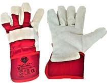 Safety First Marhahasítékbőr tenyerű kesztyű egy méretben, piros