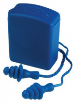 EARLINE - kék zsinóros, lamellás füldugó+doboz SNR 26db 150 db/doboz