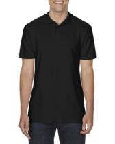 Póló Gildan 64800 galléros, piqué, pamut, fekete, 2XL