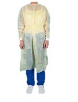 Jetguard köpeny, nyaknál és hátul kötős, gumis mandzsetta, sárga, M
