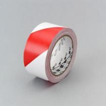 3M™ 767 Veszélyre Figyelmeztető Szalag, Piros/Fehér, 50 mm x 33 m