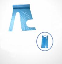 fóliakötény kék roll, téphető 80x125   (200db/tekercs)