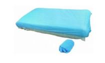 Matracvédőhuzat gumis PE 210x90x20 kék