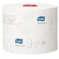 Tork Mid-size toalettpapír (T6) fehér 2rét. 9,9cm szél. 100m/tek