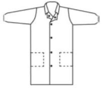 Poligard laborköpeny 40 g patentos, fehér, zseb nélkül M