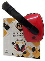 Safety First Eco fültok ABS piros