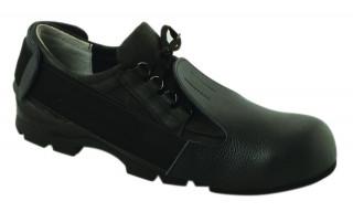 Bőr cipővédő, acélkaplis